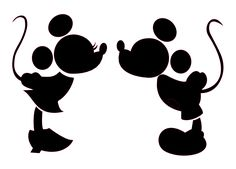 Mickey and Minnie Kiss... Very cute disney mickey cut file for silhouette cameo. Free! Made In Wonderland By Alice: Gratis fil til silhouette cameo