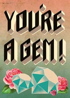 Cartolina Card - You're a Gem!
