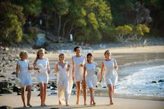 Beach Bridal Party in White - Love It!
