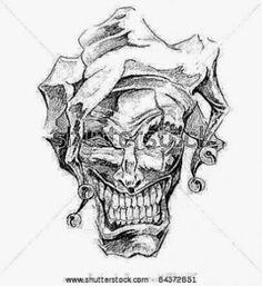 Sketch Of Tattoo Art Joker Stock Photo 64372651 Shutterstock