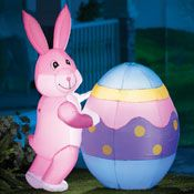 Colorful Spring Easter Eggs Table Topper from Collections Etc.