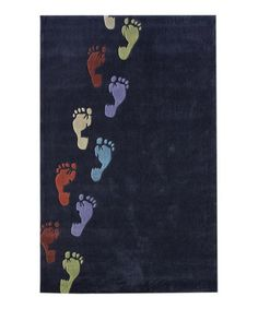 Take a look at this Navy Footsy Rug by nuLOOM on #zulily today!