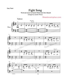 Playing the piano without having someone to teach you can be difficult. To learn the piano online can have its ups and downs. Pop Sheet Music, Print Sheet Music, Easy Piano Sheet Music, Song Sheet, Digital Sheet Music, Fight Song Piano, Piano Songs, Piano Music, Music Maniac