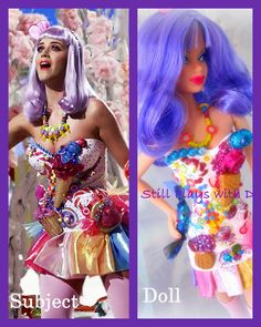 Custom Barbie as Katy Perry in Californian Gurls video