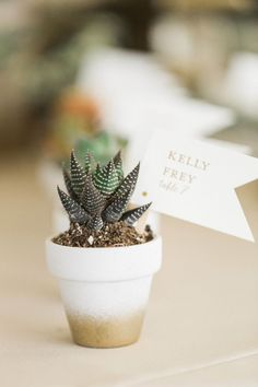 DIY succulent planters: Photography : Justin DeMutiis Photography Read More on SMP: www.stylemepretty…    For more wedding inspiration check out our wedding blog www.creativeweddingco.com