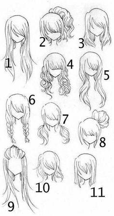 Diferentes tipos de peinados. - #de #Diferentes #ParaDibujar #peinados #tipos