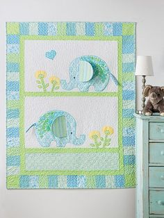 Exclusively Annie's Bobo Baby Elephants Quilt Pattern from Annie's Craft Store. Order here: https://www.anniescatalog.com/detail.html?prod_id=131545&cat_id=1644