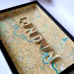 London Letter Map Artwork, thinking in 3D? literally looking at maps for direction... how do you find direction?