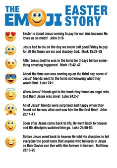 Emoji Easter Story for Kids Easter Devotions, Devotions For Kids, Bible Crafts For Kids, Easter Emoji, Easter Art, Easter Ideas, Childrens Ministry Deals, Childrens Sermons, Kids Ministry
