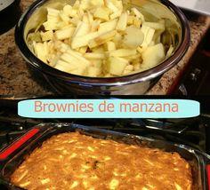Brownies de #manzana - Apple #brownies #postres #recetas