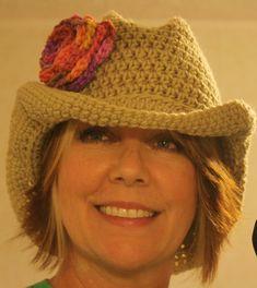 """Big Girl"" crochet Cowboy hat"