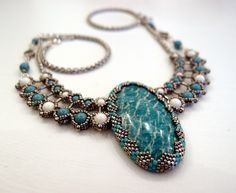 Winter Pharaoh (necklace) | biser.info - all about the beads and beaded works