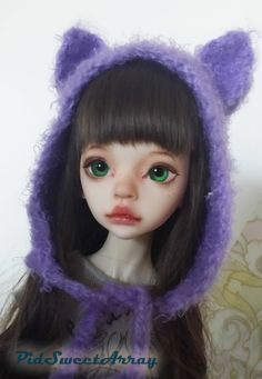 Cute handmade kitty cat hat for MSD bjd by PidSweetArray on Etsy, kr250.00