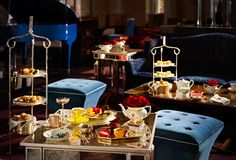 http://www.palm-court.co.uk - great place for afternoon tea in London. The Langham Hotel is beautiful, and The Palm Court is cozy.