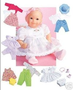 DOLL CLOTHES PATTERN - Sew for Bitty Baby - Bitty Twins and Baby Dolls. $6.99, via Etsy.