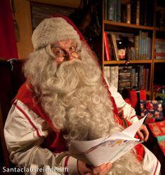 Santa Claus in Santa Claus Office in Rovaniemi in Finland