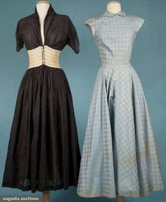 Augusta Auctions, November 2009 Museum Fashion & Textile Sale, Lot 230: Two Claire Mccardell Party Dresses, 1947  1949