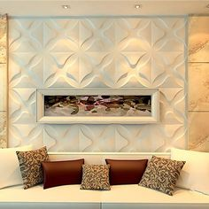Give your room extra depth and dimension by adding a unique decorative wall covering. EnduraWall panels brings your room to life by adding a unique design element that turns an ordinary wall into a focal point. Upholstered Wall Panels, Wall Wallpaper, Interior Wall Design, Upholstered Walls, White Paneling, Home Decor, Wall Paneling, Living Room Designs, Bedroom Wall Colors
