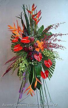 Anaheim CA Florist Custom Flower Arrangements Gallery: Avante Gardens Casket Flowers, Altar Flowers, Church Flowers, Funeral Flowers, Wedding Flowers, Ikebana, Funeral Floral Arrangements, Tropical Flower Arrangements, Deco Floral