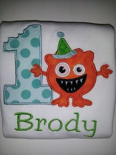 Personalized Monster Mash birthday shirt Boy 1st by babymodern, $25.00