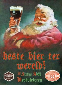 """Westy 12 Westvleteren with Santa"" by R Christopher Vest. Eat, drink, and merry- there's more stunning prints on www.imagekind.com!"
