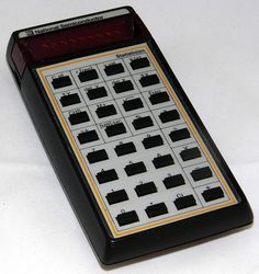 Vintage National Semiconductor Statistician Electronic Pocket Calculator, Red LED Display, Circa 1975 - 1976.