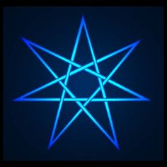 Seven pointed star blue 1