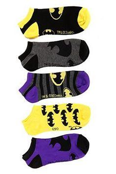 DC Comics Batman No-Show Socks 5 Pack - 176840