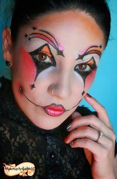 Make-up Artist Me!: Harlequin costume makeup 3 part tutorial