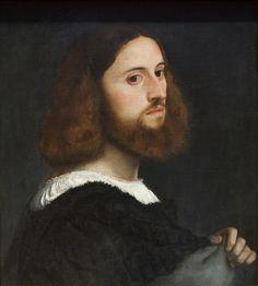 #Titian (Tiziano) - Portrait of a Man - ca 1515 #renaissance #art