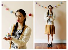 Sweater Katari ₪ R I T U A L ₪ Towanda! Otoño/Invierno 2015  #knitwear #origami #sweater