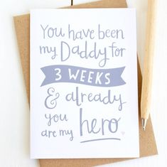 'You Are My Hero' First Father's Day Card
