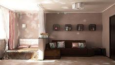 гостиная и спальня в одной комнате - Поиск в Google