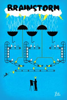 Idea Factory #Illustration #Brainstorm #Idea