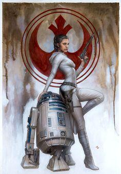 © Ady Granov - Variante para la portada del Nº1 de Princess Leia