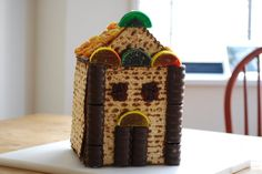 A Matzo House: Bring out the builder in your tots this Passover! Though the holiday teaches us that the Jews had to flee their homes, this fun (and mostly edible) craft will have your little ones building a new kind of shelter for the holiday. Not only can children get involved in building and decorating this dwelling, it makes for a great centerpiece during your Seder (just don't get mad when the kids start eating the decorations while waiting for their meal!).