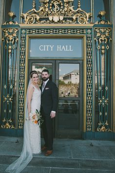 city hall bride + groom // photo by Fondly Forever
