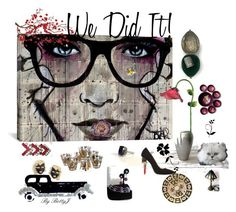 """""""We Did It!"""" by plumsandhoneyvintage ❤ liked on Polyvore featuring art, vintage and country"""