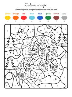 Home Decorating Style 2020 for Coloriage Paysage Hiver, you can see Coloriage Paysage Hiver and more pictures for Home Interior Designing 2020 at Coloriage Kids. Christmas Color By Number, Christmas Colors, Christmas Art, Colouring Pages, Printable Coloring Pages, Adult Coloring Pages, Christmas Activities, Activities For Kids, Crafts For Kids