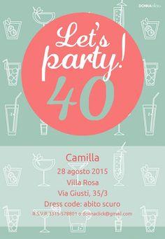 Inviti di compleanno per adulti - Donnaclick