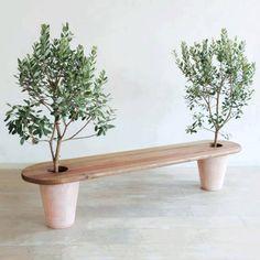 plantenbak bankje