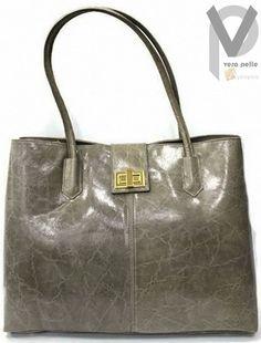 Vera Pelle Shopper 45cm Schultertasche Henkeltasche Echtleder Damen Apropos