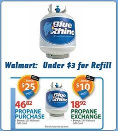 Walmart: Propane Coupons & Rebates Starting under $3