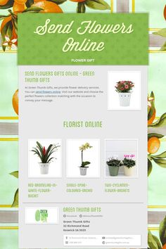 Send Flowers Online - flower gift by Eva Jamieson Send Flowers Online, Al Green, Flower Delivery Service, Online Florist, Plants Online, Online Gifts, White Flowers, Table Decorations, Dinner Table Decorations