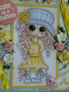Bestie close-up by Julie Gleeson.... see entire card in her blog post