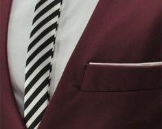 Luxusná pánska vesta ku obleku v bordovej farbe