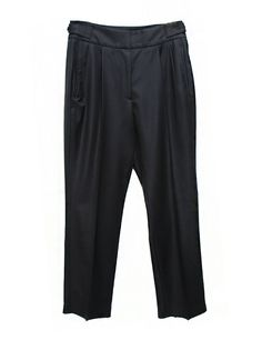 Cellar Door Noemi black trousers  Pants with two lateral pockets and two rear pockets  Zip latch and adjustable waist by lateral buttons  Composition: 100% wool  Made in Italy