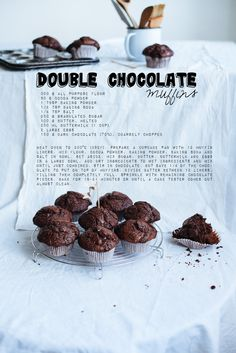 Call me cupcake!: Double chocolate muffins and chocolate chip cookies