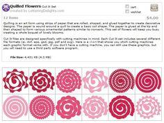 Quilled flower templates SVG