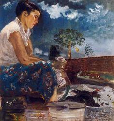S. Sudjojono - Rose Mencuci